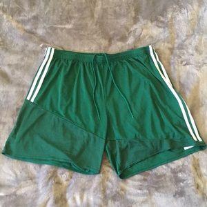 Adidas Soccer Shorts - Green - XXL